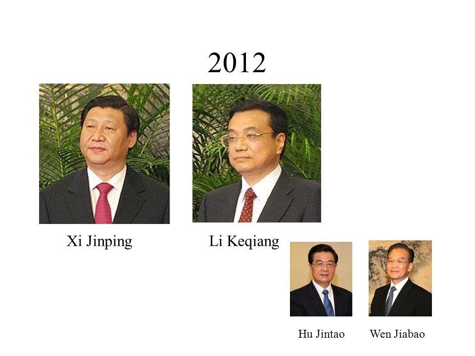 2012 Xi JinpingLi Keqiang Hu Jintao Wen Jiabao
