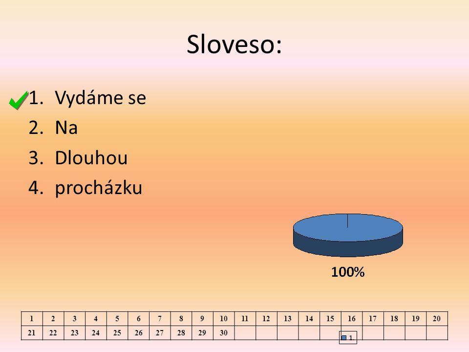 Sloveso: 1.Vydáme se 2.Na 3.Dlouhou 4.procházku 1234567891011121314151617181920 21222324252627282930