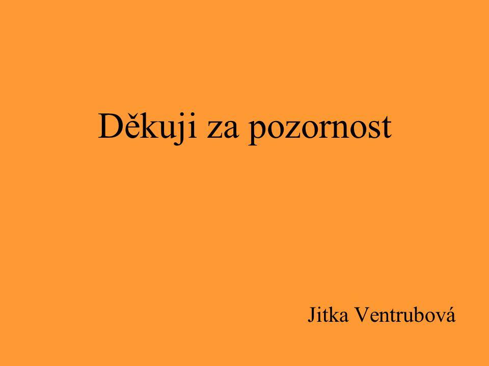 Děkuji za pozornost Jitka Ventrubová