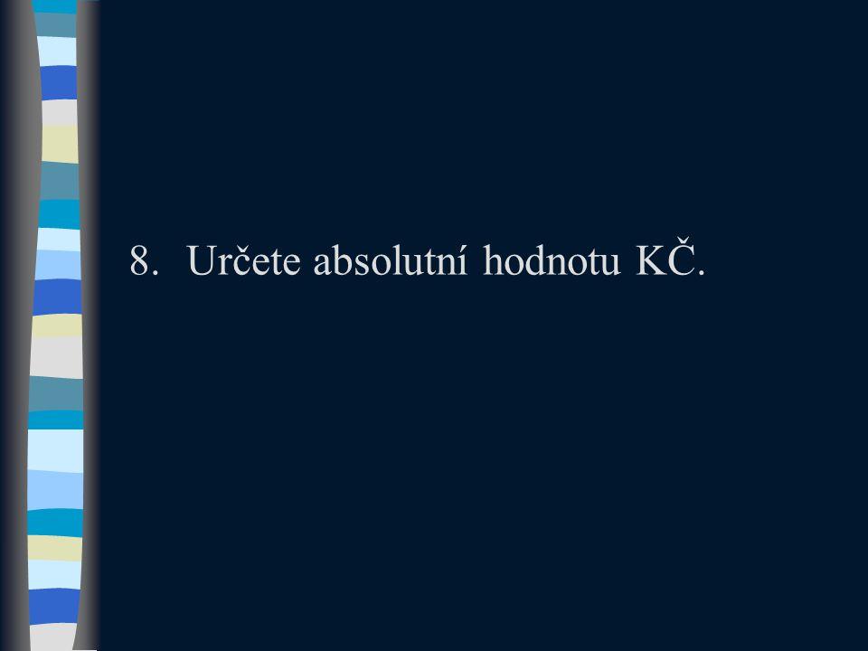 8.Určete absolutní hodnotu KČ.