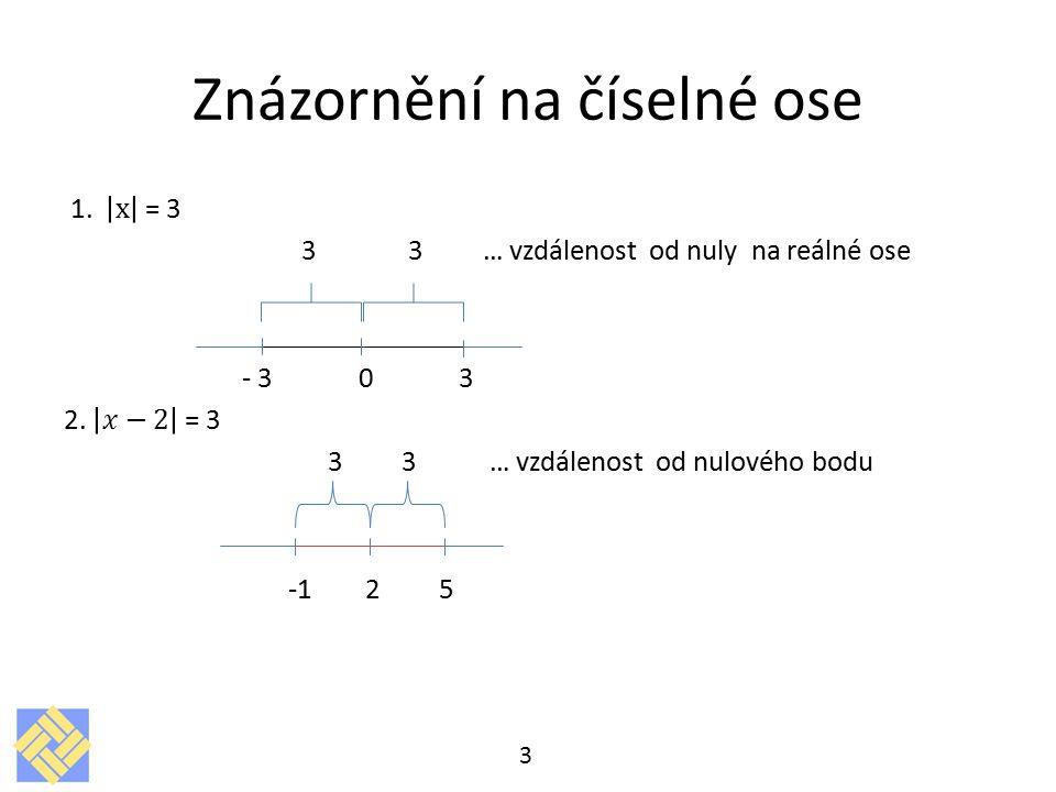 Znázornění na číselné ose 3