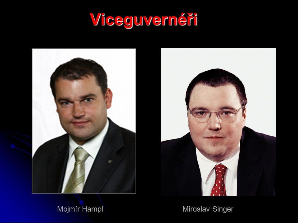 Viceguvernéři Mojmír Hampl Miroslav Singer
