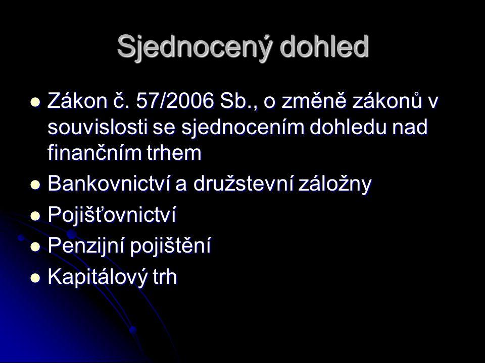 Sjednocený dohled Zákon č.