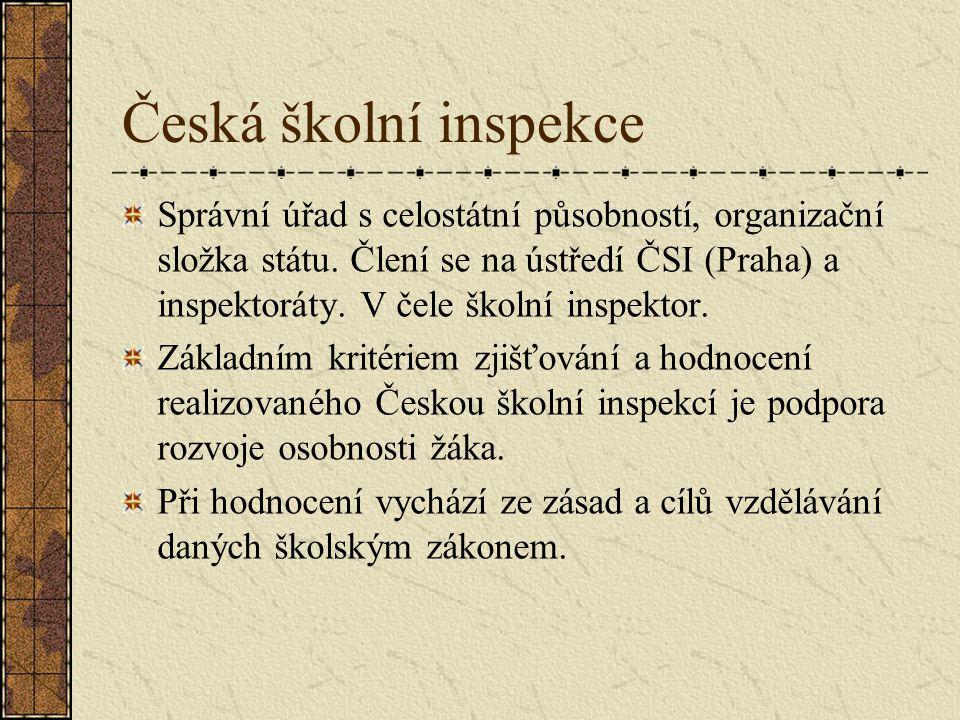 Hodnocení školy dle školského zákona § 12 Hodnocení školy se uskutečňuje jako vlastní hodnocení školy a hodnocení Českou školní inspekcí.