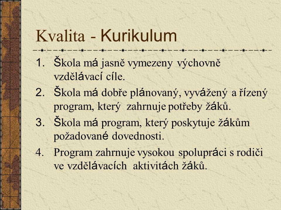 Kvalita instituce ZDROJE 1.Š kola m á motivovan é a schopn é učitele.