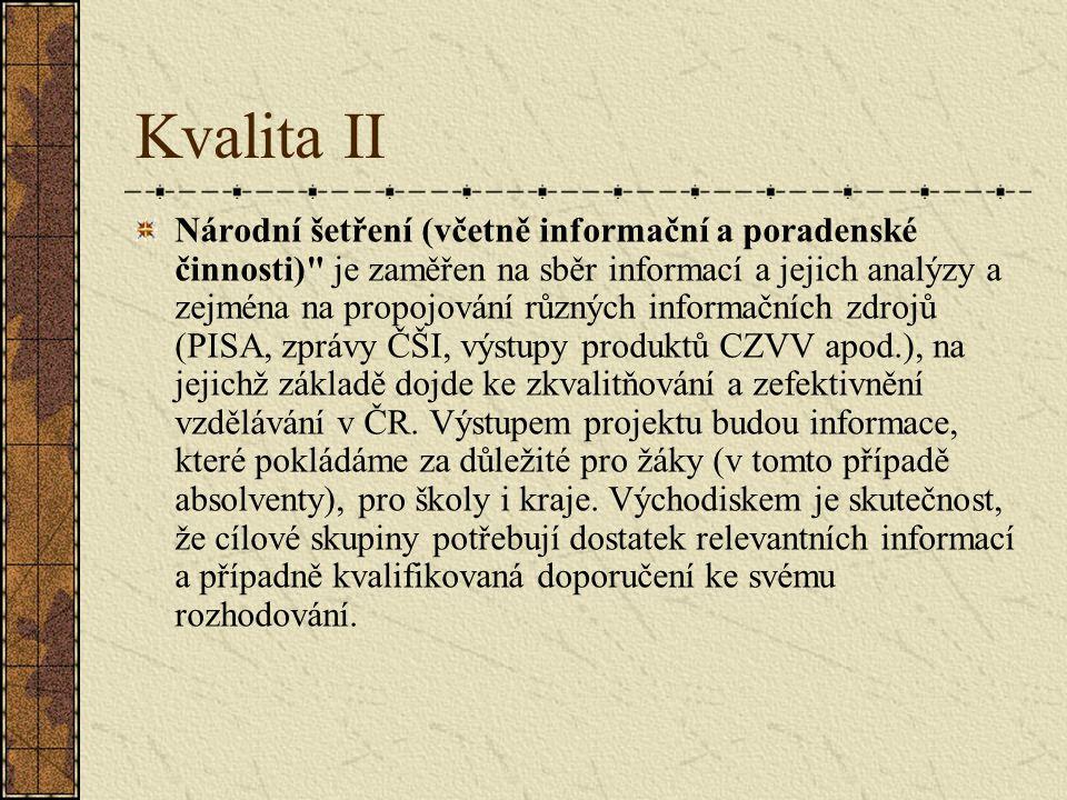 Systémové projekty Kvalita I http://www.msmt.cz/strukturalni- fondy/projekt-kvalita-i Kvalita II http://www.msmt.cz/strukturalni- fondy/projekt-kvalita-ii