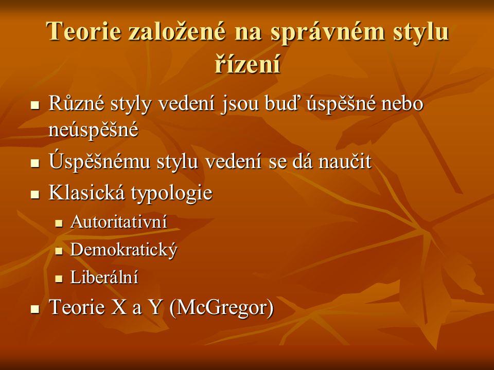 Samostudium Více k stylům vedení: Více k stylům vedení: http://aplikace.mvcr.cz/archiv2008/reforma/zpravy /priprava/moduly/m_pm_24.rtf http://aplikace.mvcr.cz/archiv2008/reforma/zpravy /priprava/moduly/m_pm_24.rtf Více k LBA II: Více k LBA II: http://www.cmaa.org/template.aspx?id=6032 http://www.cmaa.org/template.aspx?id=6032 http://www.cmaa.org/template.aspx?id=6032 http://www.12manage.com/methods_blanchard_sit uational_leadership.html http://www.12manage.com/methods_blanchard_sit uational_leadership.html