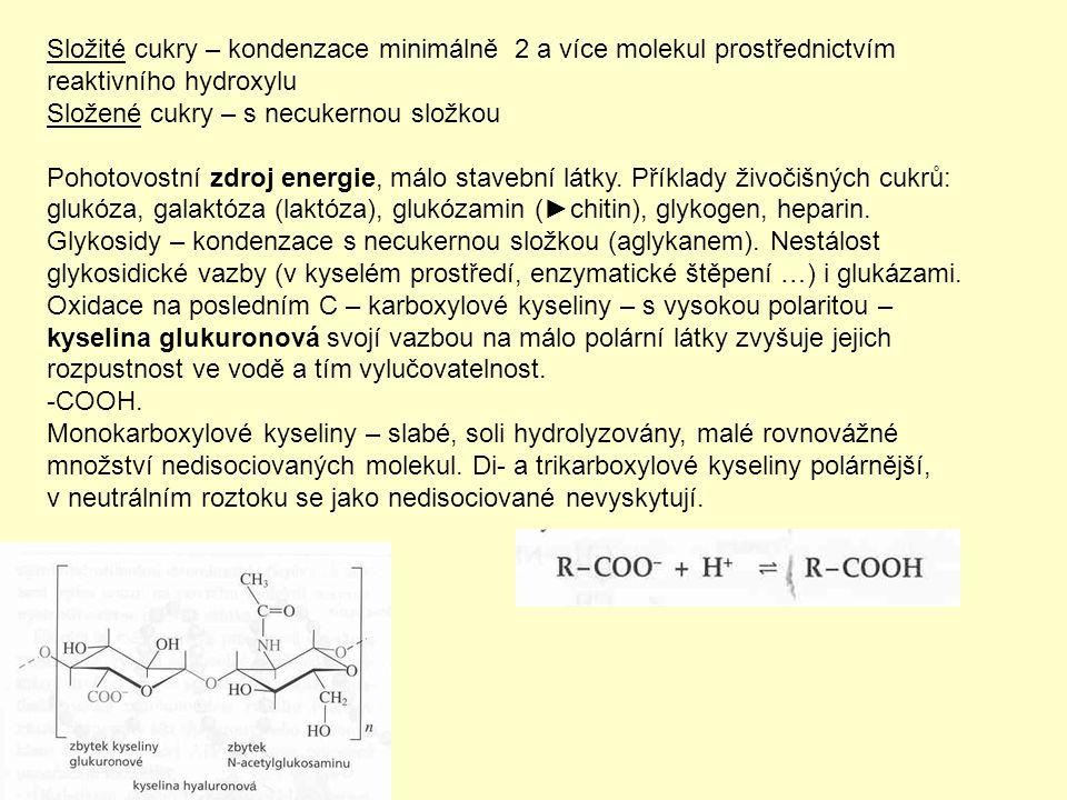 Aminokyseliny – proteiny – bílkoviny jsou peptidy ze zbytků aminokyselin (Ak).