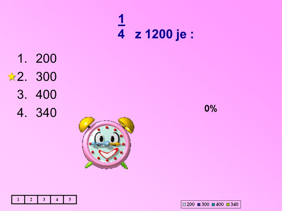 1 4 z 1200 je : 12345 1.200 2.300 3.400 4.340