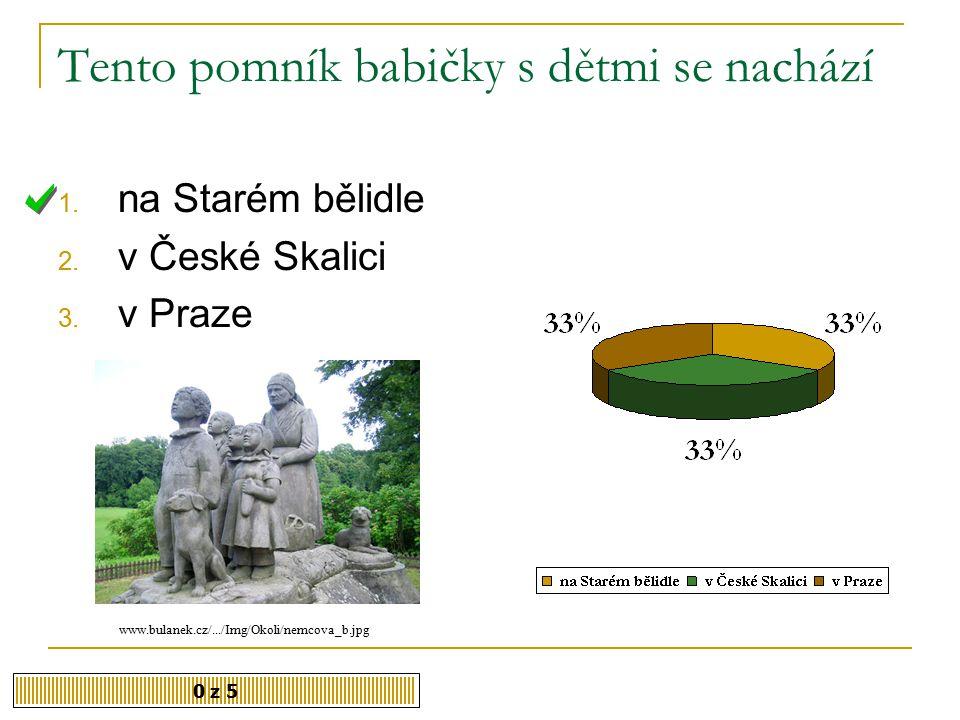 Ve kterém roce B. Němcová zemřela. 0 z 5 1. 1860 2.