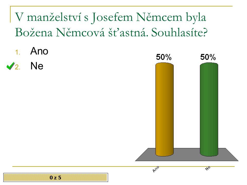 Do České Skalice chodila B. Němcová 1. na hodiny zpěvu 2.