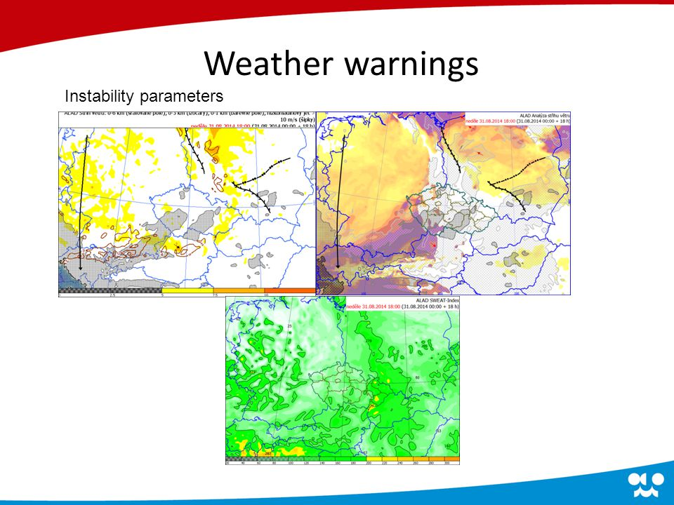 Convective parameters Weather warnings