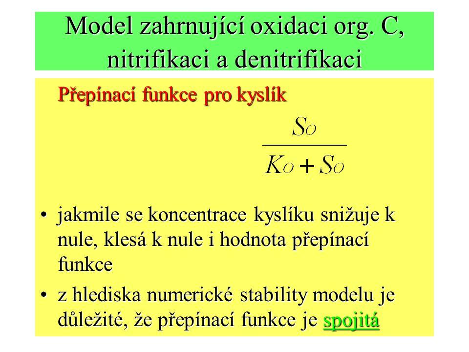 Model zahrnující oxidaci org.