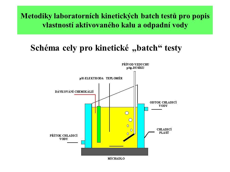 """Metodiky laboratorních kinetických batch testů pro popis vlastností aktivovaného kalu a odpadní vody Schéma cely pro kinetické """"batch testy"""