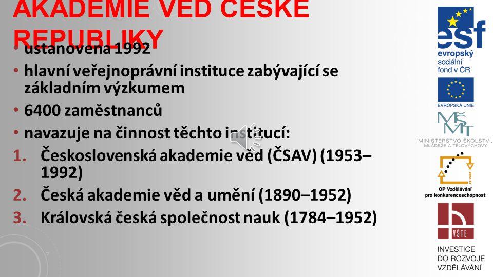 NEJVÝKONNĚJŠÍ VĚD. INSTITUCE V ČR Matematicko-fyzikální fakulta Univerzity Karlovy fyzikální ústavy Akademie věd ČR, přírodovědeckých fakult Univerzit