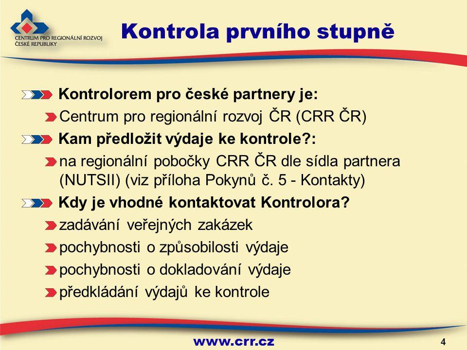 www.crr.cz 15 Způsobilost výdajů Obecná pravidla způsobilosti 1) Soulad s evropskou a českou legislativou a operačními programy 2) Přiměřené (odpovídat cenám v místě a čase obvyklém) a vynaloženy v souladu s principy hospodárnosti, účelnosti a efektivnosti 3) Vynaloženy v souvislosti s projektem a aktivitami uvedenými v žádosti o projekt 4) Musí být identifikovatelné (doklady označené číslem, názvem projektu a programu), prokazatelné, doložitelné potvrzenými účetními doklady, tzn.