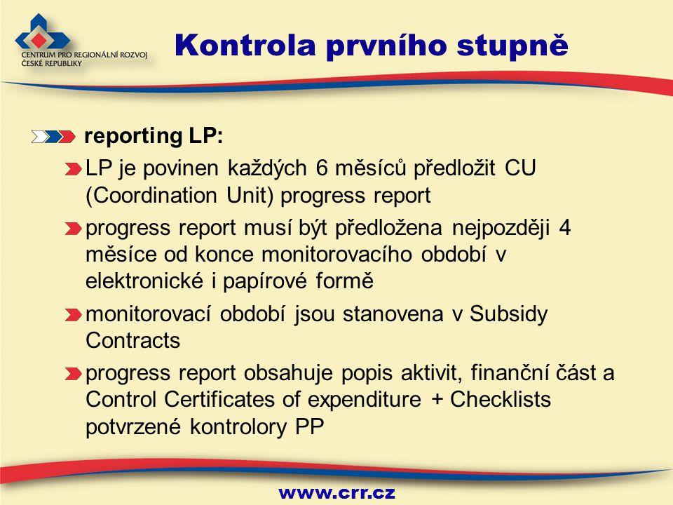 www.crr.cz 9 Kontrola prvního stupně Časová náročnost kontroly prvního stupně: CRR ČR provede kontrolu výdajů do 4 týdnů od předložení všech potřebných podkladů (tzv.