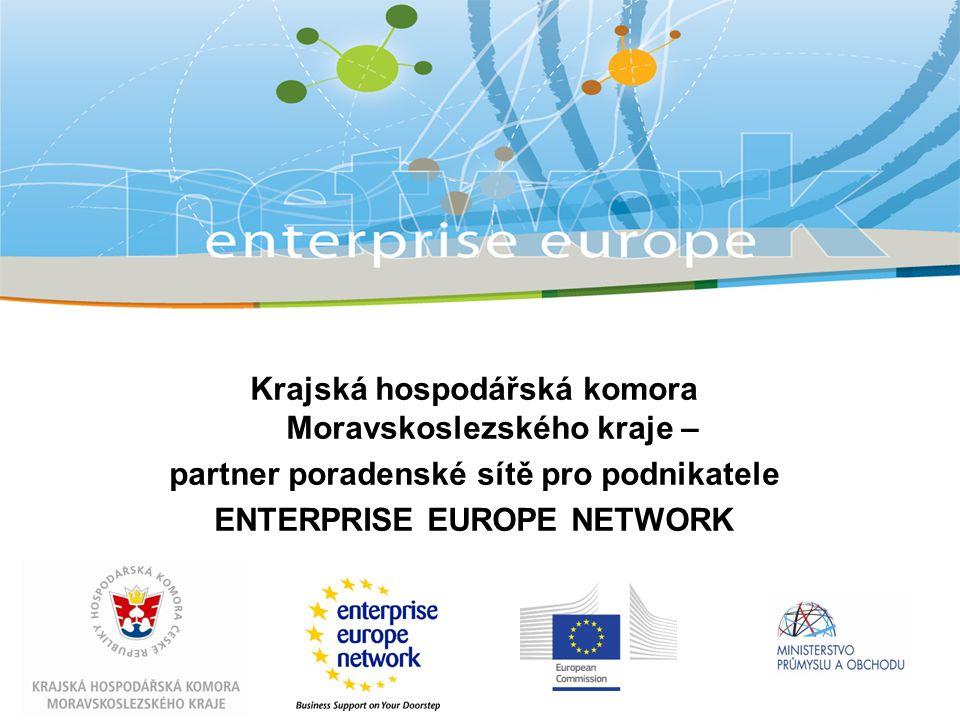 Krajská hospodářská komora Moravskoslezského kraje – partner poradenské sítě pro podnikatele ENTERPRISE EUROPE NETWORK