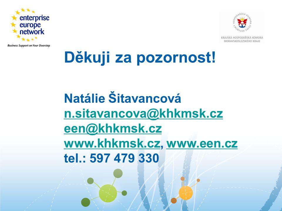 Děkuji za pozornost! Natálie Šitavancová n.sitavancova@khkmsk.cz een@khkmsk.cz www.khkmsk.czwww.khkmsk.cz, www.een.czwww.een.cz tel.: 597 479 330