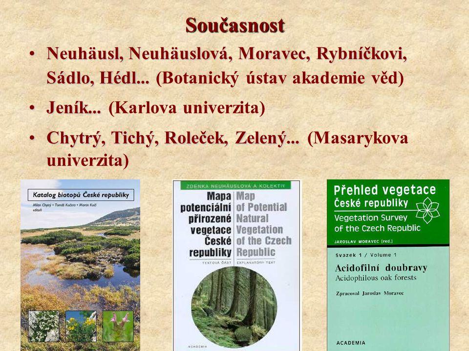 Současnost Neuhäusl, Neuhäuslová, Moravec, Rybníčkovi, Sádlo, Hédl...Neuhäusl, Neuhäuslová, Moravec, Rybníčkovi, Sádlo, Hédl... (Botanický ústav akade