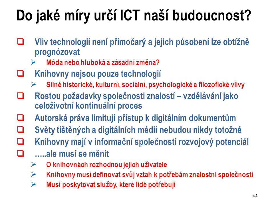 44 Do jaké míry určí ICT naší budoucnost.