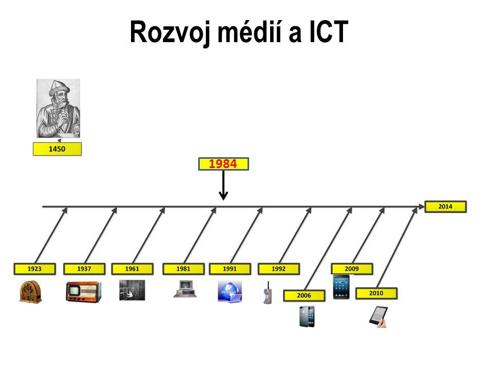 Rozvoj médií a ICT 1984