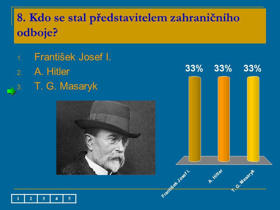 8. Kdo se stal představitelem zahraničního odboje.