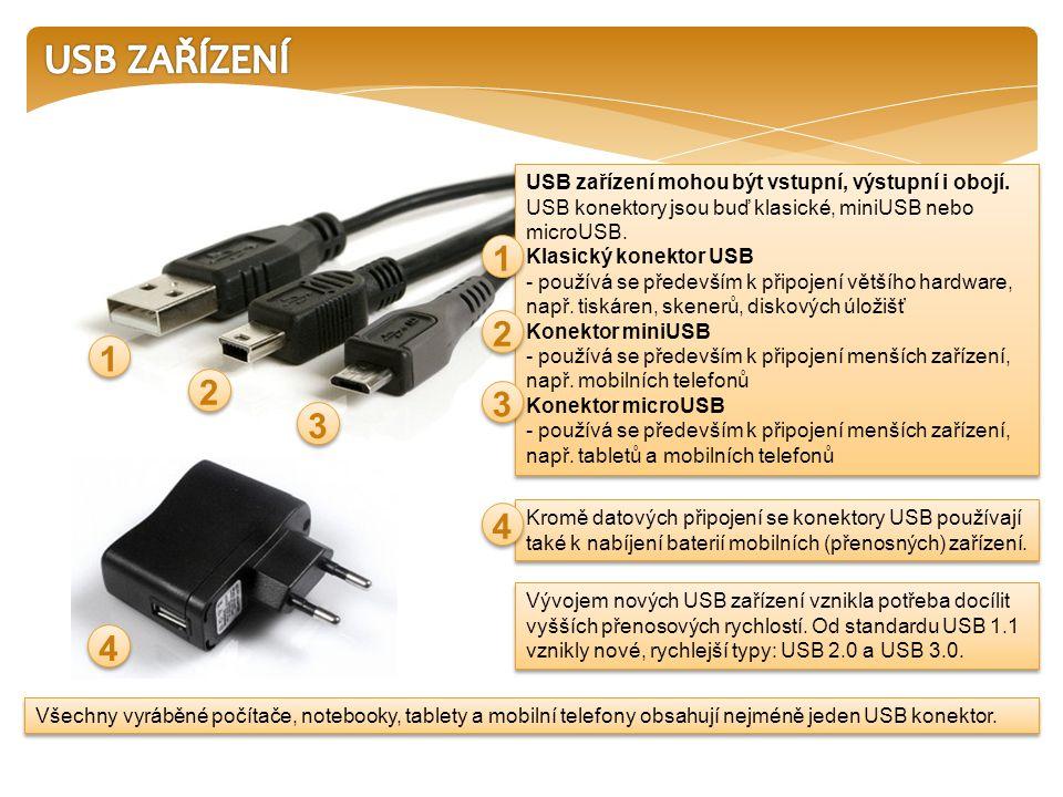 Všechny vyráběné počítače, notebooky, tablety a mobilní telefony obsahují nejméně jeden USB konektor.