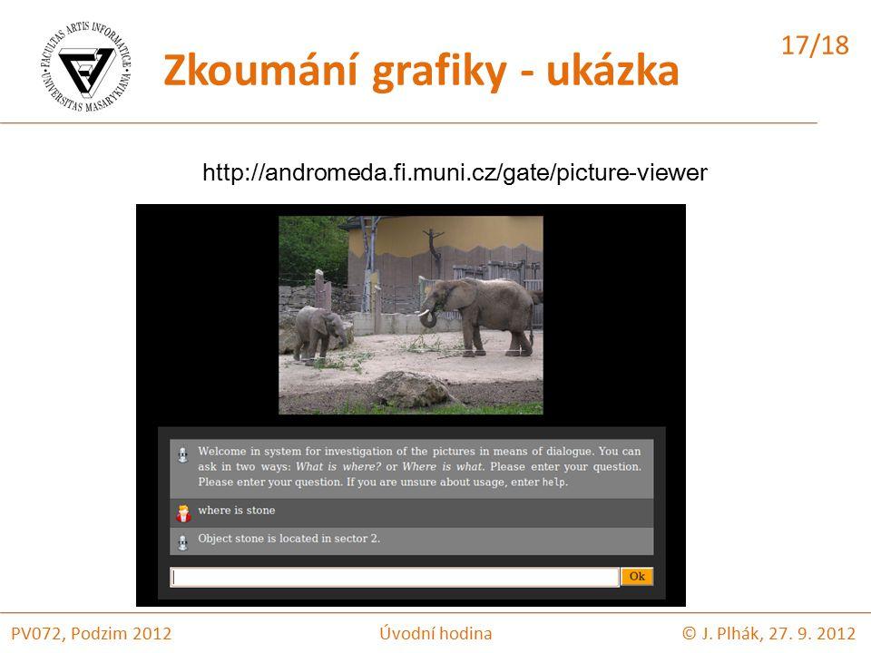 Zkoumání grafiky - ukázka http://andromeda.fi.muni.cz/gate/picture-viewer © J.
