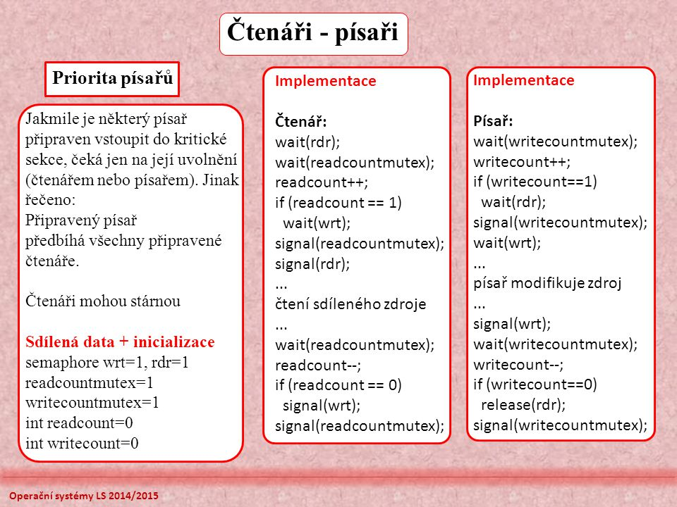 Jednoúrovňová tabulek stránek V + PageOffset fyzická adresa virtuální adresa V=0 bit platnosti, stránka není v paměti (page fault) Page Table Base Register Access rightsFrame Page Table je umístěna ve fyzické paměti, 32 bitový virtuální prostor bude mít při velikosti stránky 4 KB pro offset 12 bitů a pro stránku 20 bitů, tabulka stránek je příliš velká (4 MB pro tabulku stránek pro jeden proces), používá se víceúrovňové stránkování