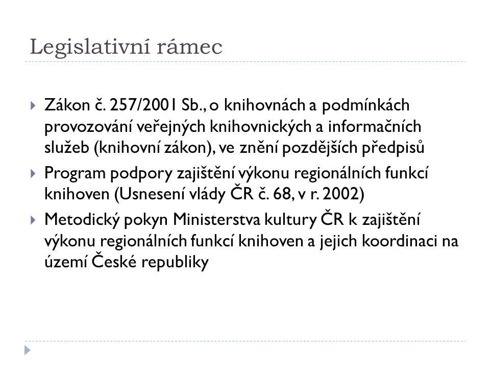 Legislativní rámec  Zákon č.