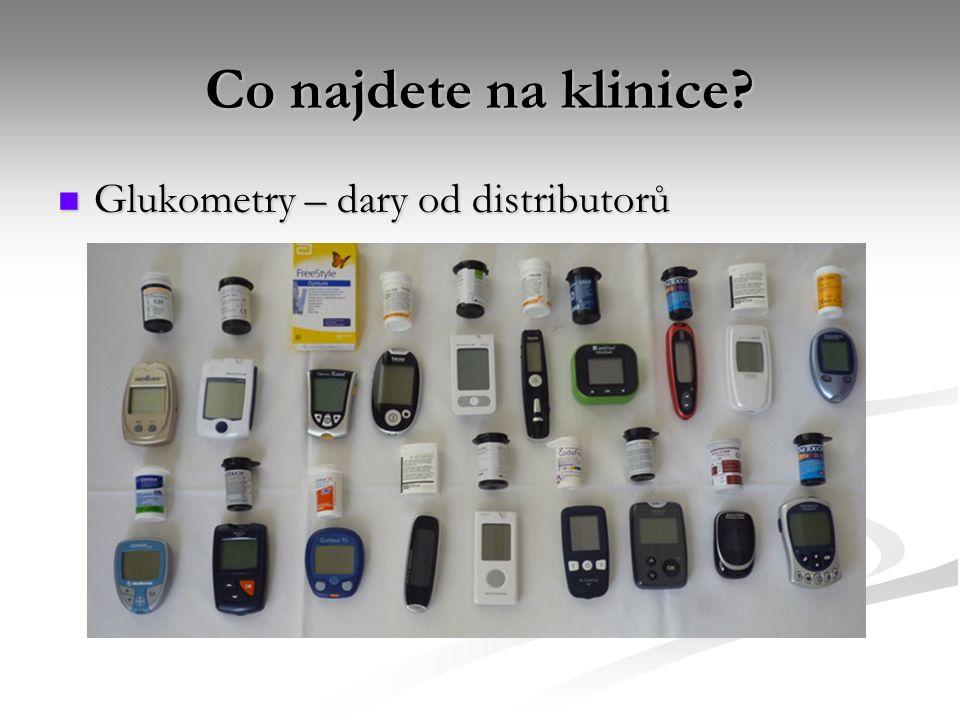 Co najdete na klinice? Glukometry – dary od distributorů Glukometry – dary od distributorů