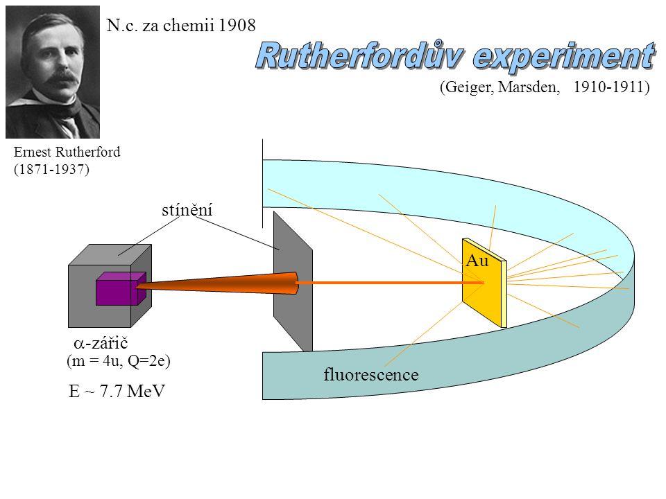 komentář k Bohrovu modelu: - kvaziklasické přiblížení - přenesl ħ na hmotné soustavy (předtím pro popis fotonů) - inspirace pro Heisenberga a kvantový popis atomů (kvantový popis H: stejný výsledek jako Bohr) - nepodařilo se zobecnění na víceelektronové atomy (problém e-e interakce) nutný úplný kvantový popis