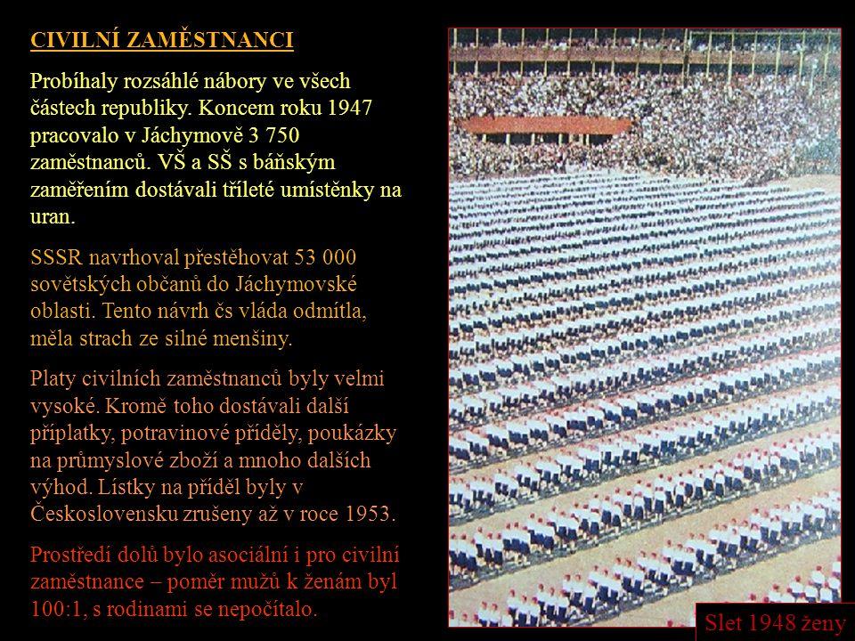 Váleční zajatci a etničtí Němci SSSR měl vysoké požadavky na dodávky uranové rudy. Ruda se těžila primitivním způsobem a těžba tedy byla velmi náročná