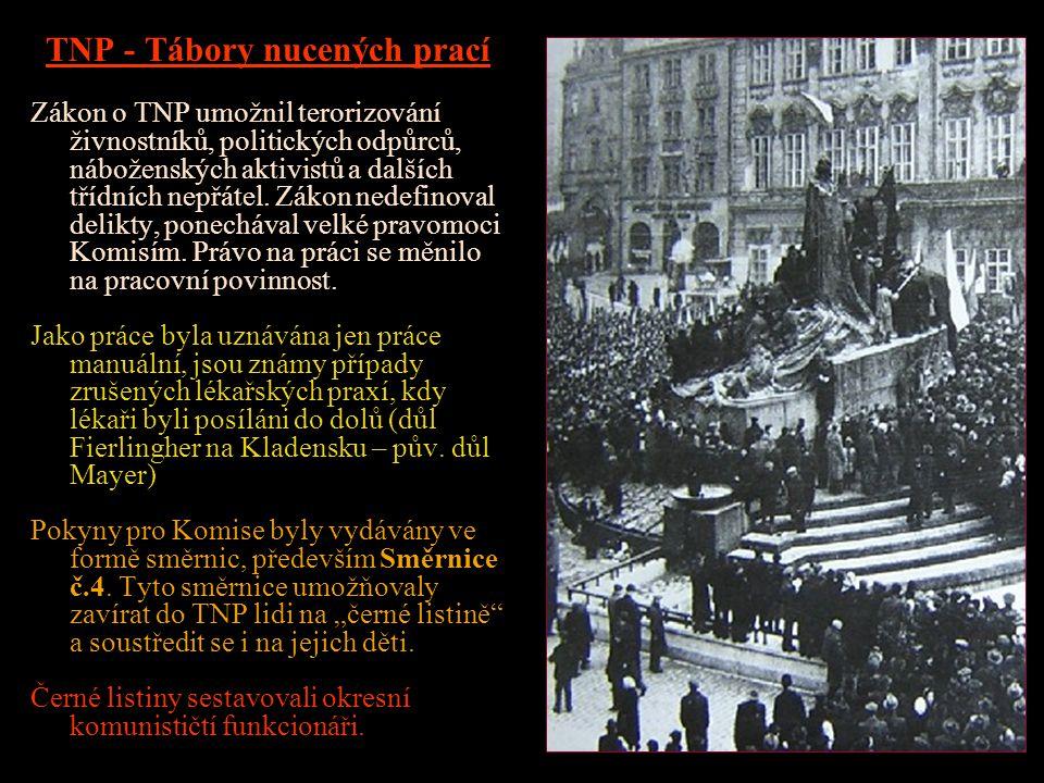 CIVILNÍ ZAMĚSTNANCI Probíhaly rozsáhlé nábory ve všech částech republiky. Koncem roku 1947 pracovalo v Jáchymově 3 750 zaměstnanců. VŠ a SŠ s báňským