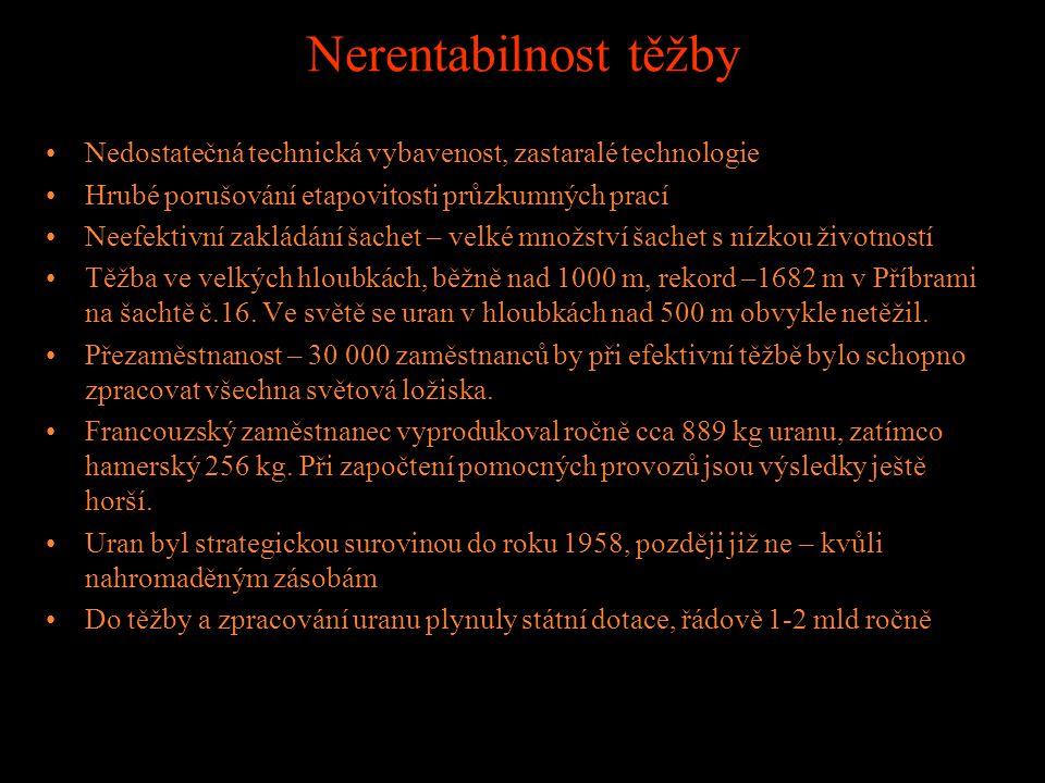 Ceny za československý uran Ve smlouvách byl zprvu počítán 18% zisk, později klesal až na 10%, a mizely některé nevýrobní náklady (bytová výstavba, st