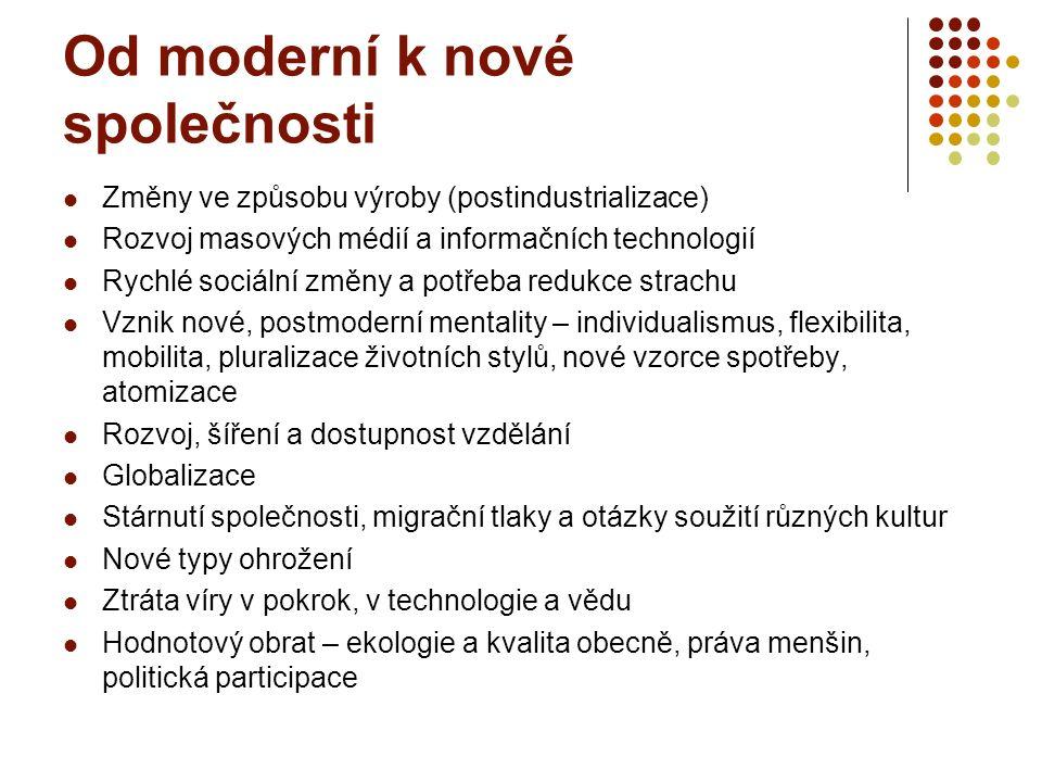 Nová éra ve vývoji společnosti (od 70.