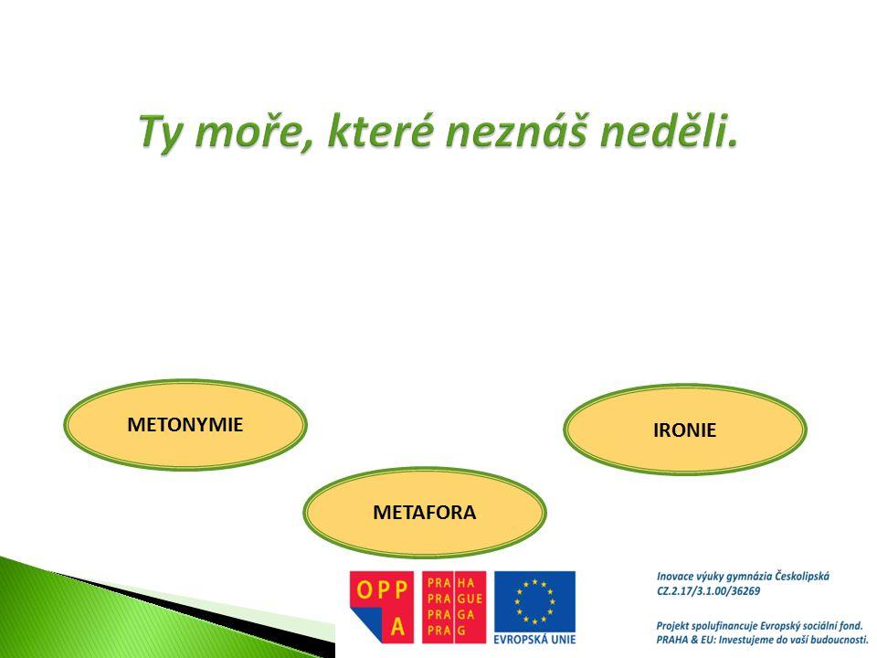 METONYMIE METAFORA IRONIE