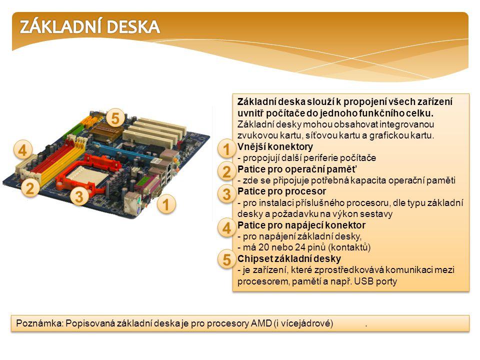 Základní deska slouží k propojení všech zařízení uvnitř počítače do jednoho funkčního celku.