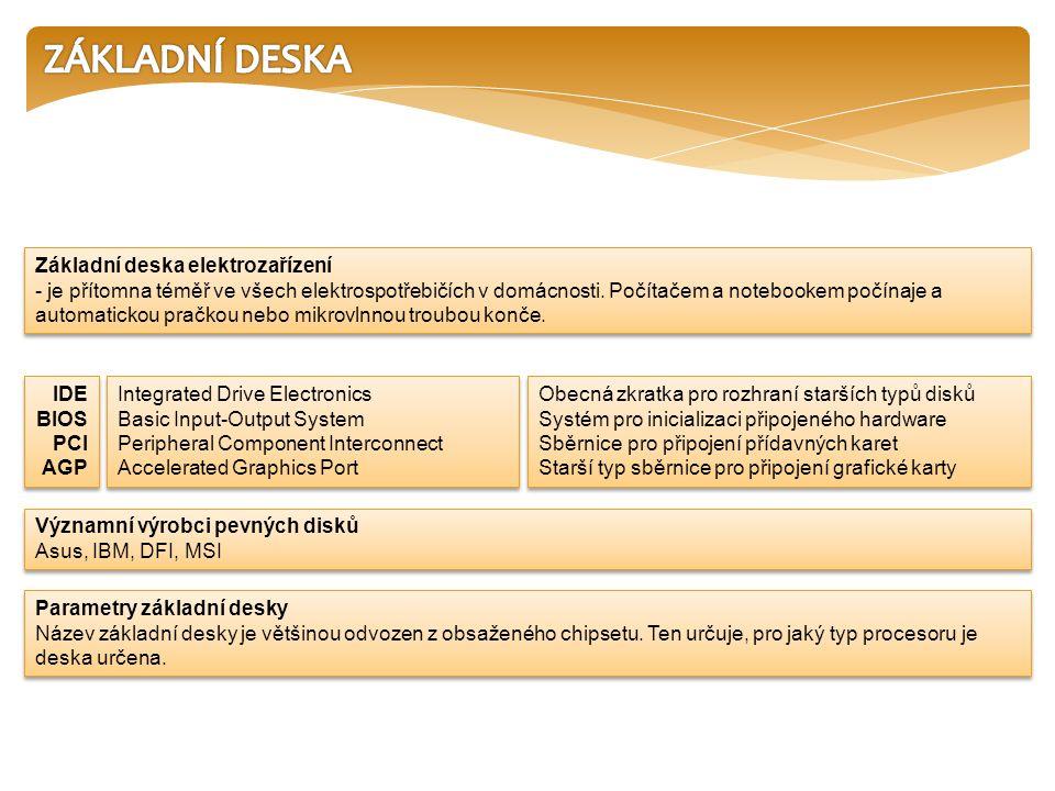 Základní deska elektrozařízení - je přítomna téměř ve všech elektrospotřebičích v domácnosti.