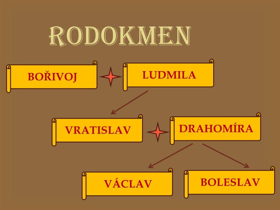  VÝCHOVA  Václav byl vychováván babičkou Ludmilou  Ludmila byla zavražděna svou snachou Drahomírou