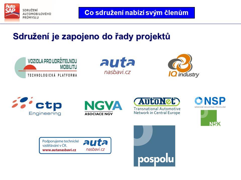 Co sdružení nabízí svým členům Sdružení je zapojeno do řady projektů