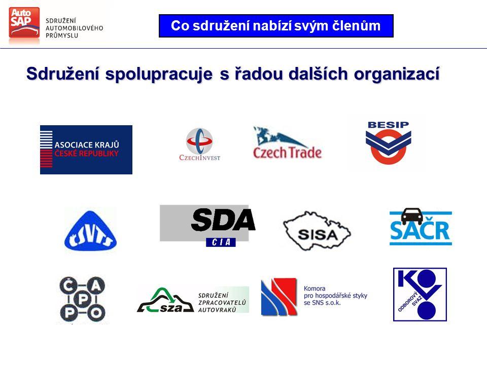 Co sdružení nabízí svým členům Sdružení spolupracuje s řadou dalších organizací