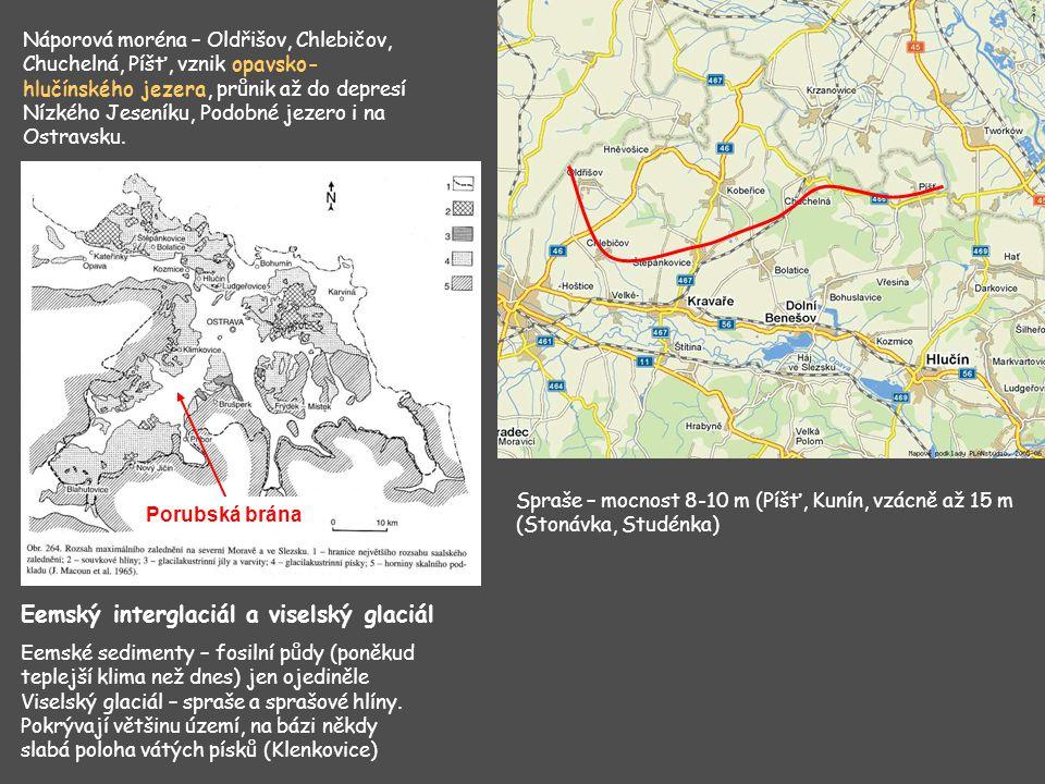 Příkopová propadlina směru SSZ-JJV.Tvorba jezer po ústupu badenského moře.