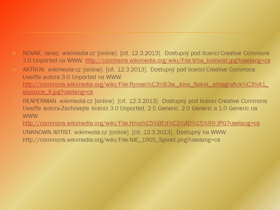 LEHOTSKY. wikimedia.cz [online]. [cit. 12.3.2013]. Dostupný pod licencí Creative Commons Attribution-Share Alike 3.0 Unported na WWW: http://commons