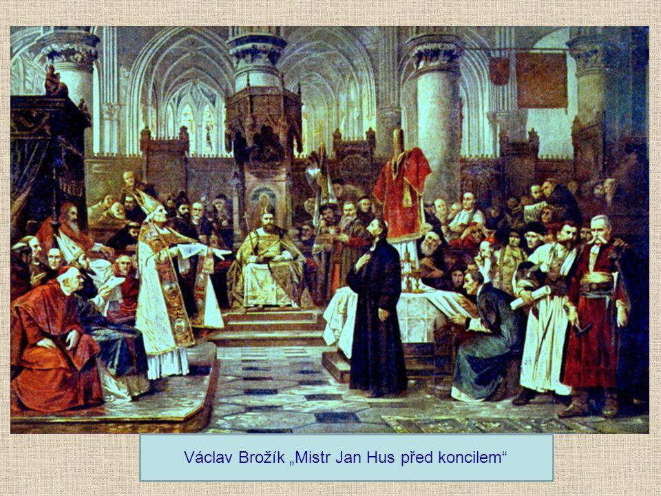 Kostnický koncil 1414-1417 Svolal římský král Zikmund Lucemburský, aby vyřešil papežské schizma (existovali tři papežové) Vedlejší problém: vyřešit Hu