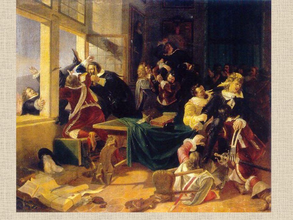 Krále Václava IV. ranila mrtvice- 16.srpna zemřel Následník- bratr Zikmund (válčil proti Turkům) V Čechách- bezvládí Tvoří se skupina radikálních husi
