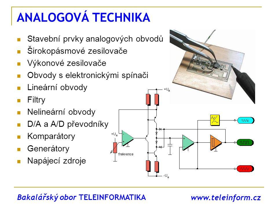 www.teleinform.cz ANALOGOVÁ TECHNIKA Stavební prvky analogových obvodů Širokopásmové zesilovače Výkonové zesilovače Obvody s elektronickými spínači Li
