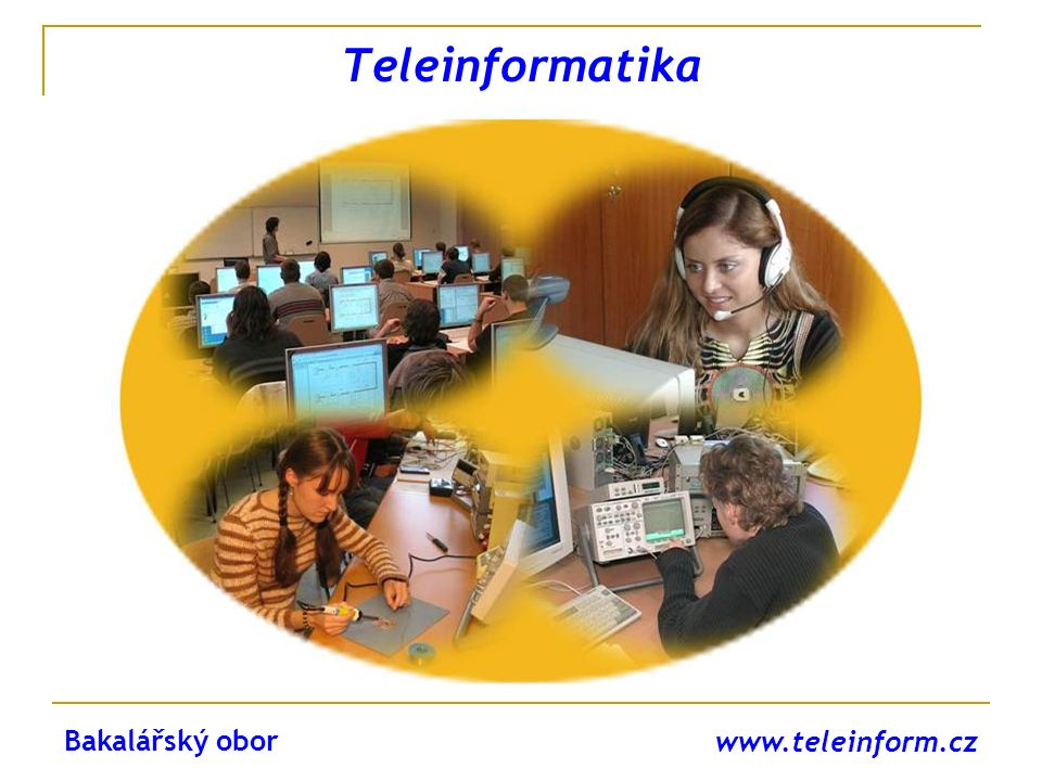 www.teleinform.cz OPTICKÉ SÍTĚ vlákna pro vysokorychlostní přenosy, útlum a disperze, polarizační vidová disperze, čtyřvlnné směšování, kompenzace disperze, doporučení ITU, … Magisterský obor TELEKOMUNIKAČNÍ A INFORMAČNÍ TECHNIKA