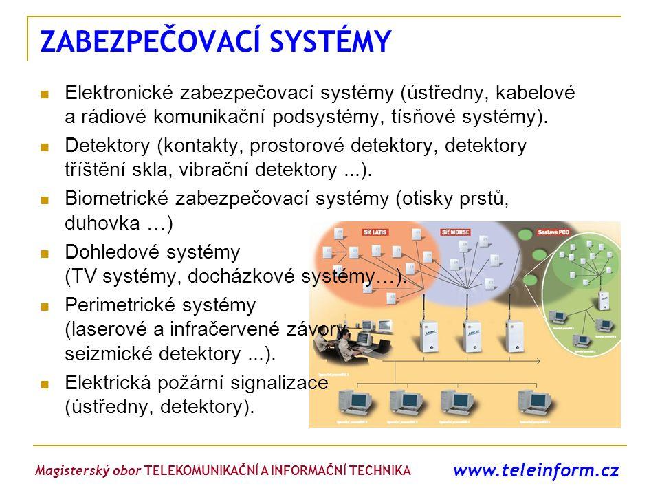www.teleinform.cz ZABEZPEČOVACÍ SYSTÉMY Elektronické zabezpečovací systémy (ústředny, kabelové a rádiové komunikační podsystémy, tísňové systémy). Det